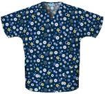 Scrub HQ 4700 Dots Wonderful Print V-Neck Top