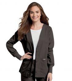 Landau Cardigan Style Warm Up Knit-cuff Scrub Jacket ...