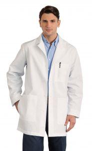 "White Swan Meta 1168 Men's Back Belt 34"" Lab Coat"