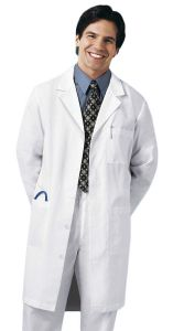 "Cherokee Med-Man 1388 Back Belt Notch Collar Size 40"" Lab Coat"
