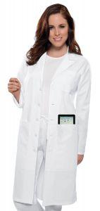 "Cherokee 1424 Unisex iPad Pocket 40"" Lab Coat"
