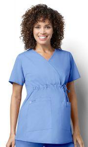 WonderWink WonderWORKS Women's 145 Maternity Mock Wrap Top