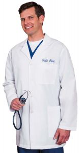 "White Swan Meta 15007 Men's 3-Pocket 34"" Lab Coat"