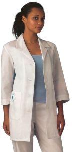 "White Swan Meta 15012 Women's 3/4 Sleeve 33"" Lab Coat"