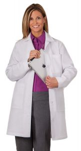 "White Swan Meta 1964 Women's iPad 37"" Lab Coat"