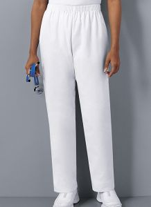 Cherokee 2001 Pull-On Elastic Waist White Pant *CLEARANCE*