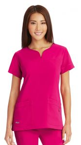 Grey's Anatomy™ Signature 2121 Notch Neck Top