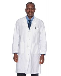 "Landau 3138 Men's Cloth Knot Button 43"" Lab Coat"