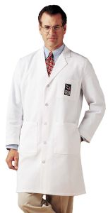"Landau 3139 Men's 5-Button 40"" Lab Coat"