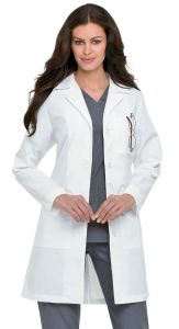 "Landau 3155 Women's 4-Button 38"" Lab Coat"