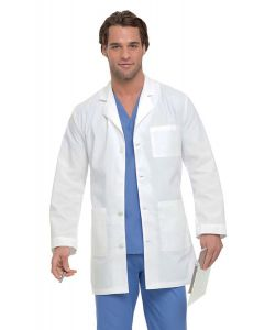 "Landau 3166 Men's Staff Length 4-Button 35"" Lab Coat"