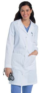 "Landau 3172 Women's Knot Button 36"" Lab Coat"