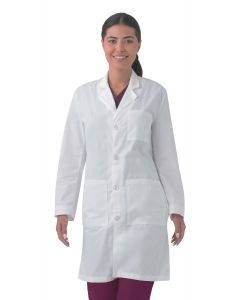 "Landau 3187 Unisex Plain Back 39"" Lab Coat"