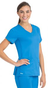 Grey's Anatomy™ Active 41423 Crossover V-Neck Top
