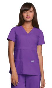 Grey's Anatomy™ 4153 Three-Pocket Mock Wrap Top