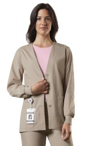 Cherokee WorkWear 4301 V-Neck 2-Pocket Cardigan *CLEARANCE*