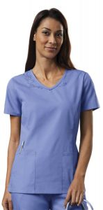 Cherokee WorkWear 4724 Soft V-Neck Top Top