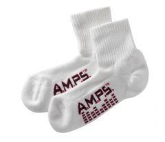 AMPS Coolmax® 5853 Quarter Crew Performance Sock - Women's White