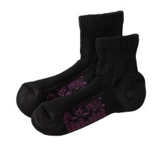 AMPS Coolmax® 5856 Quarter Crew Performance Sock - Women's Black