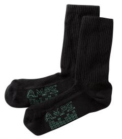 AMPS Coolmax® 5873 Crew Performance Sock - Men's Black