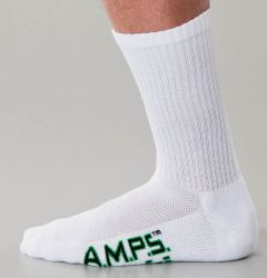 AMPS Coolmax® 5874 Crew Performance Sock - Men's White