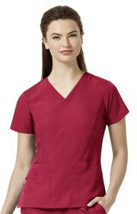 WonderWink Four-Stretch 6114 Women's V-Neck Flexi Top *CLEARANCE*