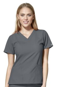 WonderWink W123 Women's 6255 V-Neck Top