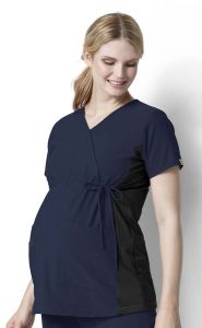 WonderWink Maternity 6445 Mock Wrap Top