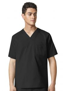 WonderFlex Men's 6718 Pocket V-Neck Top