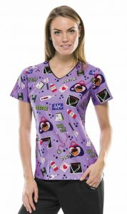 Disney 6802C Doctor Knows Best Print Top