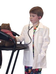 "Landau Kid's 7003 Size 25"" Lab Coat"