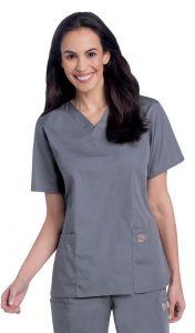 Landau Scrub Zone 70221 Women's 2-Pocket V-Neck Top