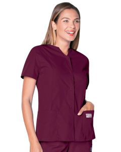 Landau Scrub Zone 70223 Women's  Snap Front Notch Neck Tunic
