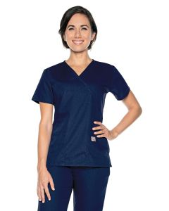 Landau Scrub Zone 70224 Women's Faux Wrap 2-Pocket Tunic