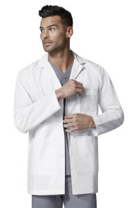 "WonderWink WonderLab 7102 Men's Consultation 31.5"" Lab Coat"