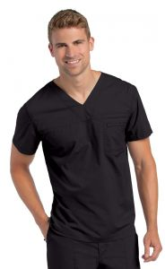 Landau Pre-Washed 7478 Men's V-Neck Tunic *CLEARANCE*