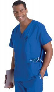 Landau 7489 Men's 5 Pocket Scrub Top