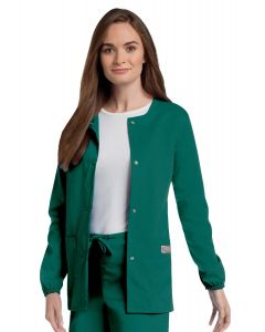 Landau Scrub Zone 75221 Women's Jewel Neck Warm Up Jacket