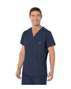 Landau 7594 Men's Vented V-Neck Scrub Top