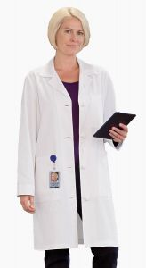 "White Swan Meta 763 Women's Knot Button iPad 38"" Lab Coat"