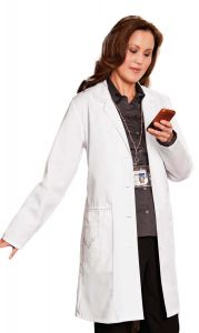 "White Swan Meta 767 Women's Embroidered 36"" Lab Coat *CLEARANCE*"