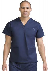 Med Couture Signature 8471 Men's Classic V-Neck Top *CLEARANCE no return or exchange*