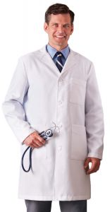 "White Swan Meta 862 Men's Xstatic Antimicrobial 38"" Lab Coat *CLEARANCE*"