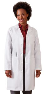 "White Swan Meta 863 Women's Xstatic Antimicrobial 37"" Lab Coat *CLEARANCE*"