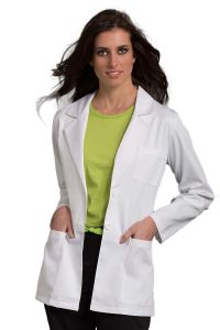 "MedCouture 8660 2-Button Pleated Back 30"" Lab Coat"