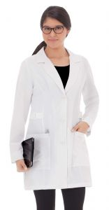 "White Swan Meta 883 Ladies Buckle Stretch 32""  Lab Coat *CLEARANCE*"
