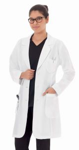 "White Swan Meta 885 Ladies Pro Stretch Fabric 35""  Lab Coat *CLEARANCE*"