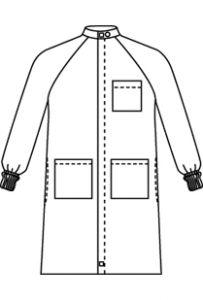 "Landau 9135 Unisex Barrier 43"" Lab Coat *CLEARANCE*"