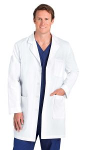 "Barco 9599 Men's 4 Pocket 37"" Lab Coat"