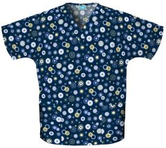 Scrub HQ 4700 Dots Wonderful Print V-Neck Top
